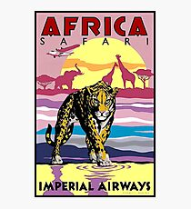 IMPERIAL AIRWAYS : Vintage Fly to Africa Advertising Print Photographic Print