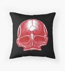Red Skull - Art By Kev G Throw Pillow