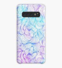 Blue and Purple Swirls Case/Skin for Samsung Galaxy