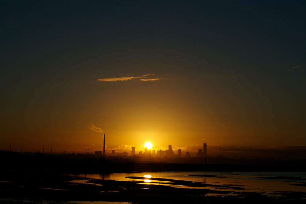 Sunrise Over Melbourne by James Troi