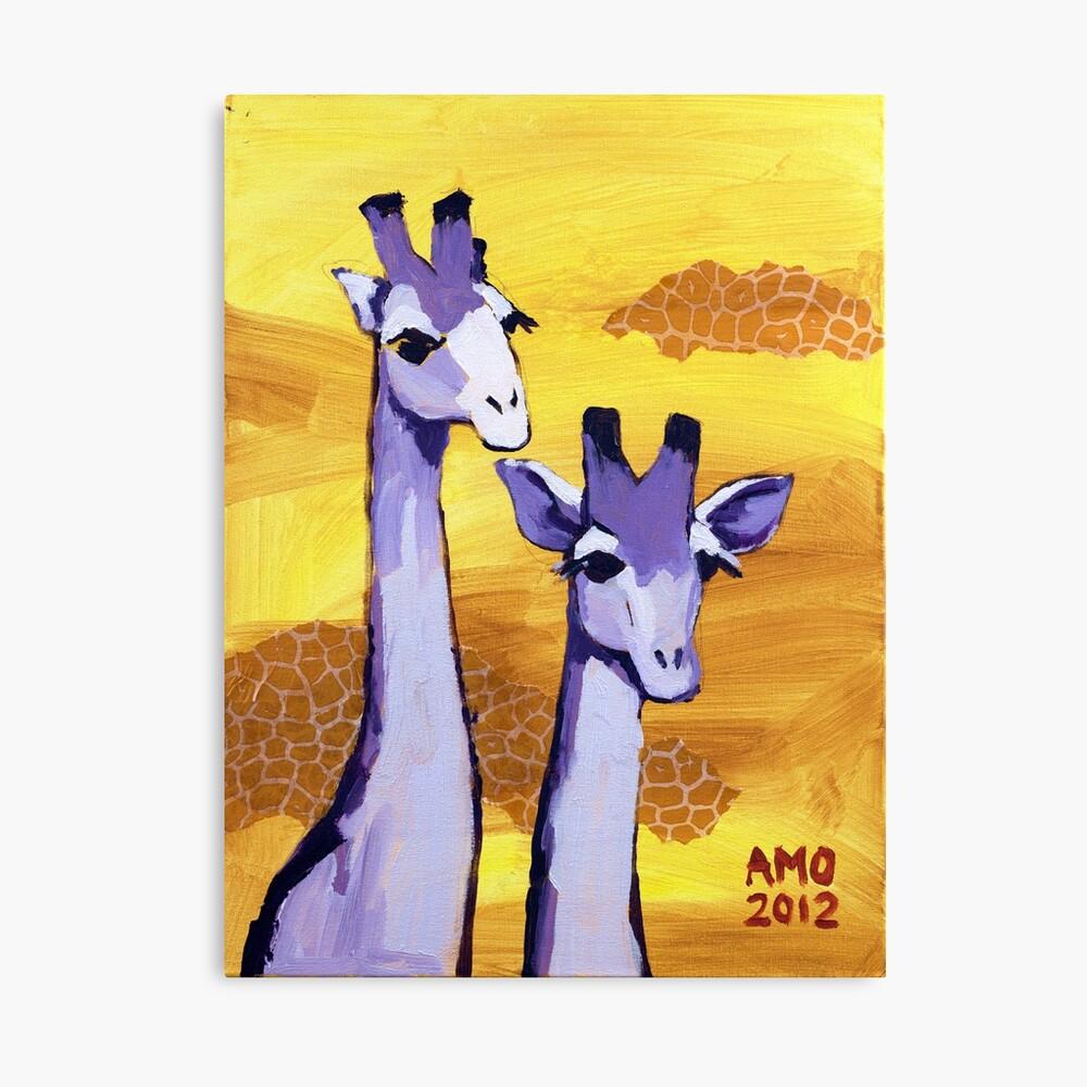 Purple Giraffes Canvas Print