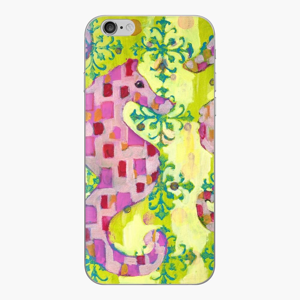 Pink Seahorses iPhone Skin