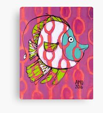 Fun Fish with Pattern Canvas Print