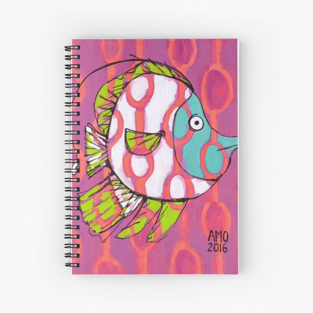 Fun Fish with Pattern Spiral Notebook