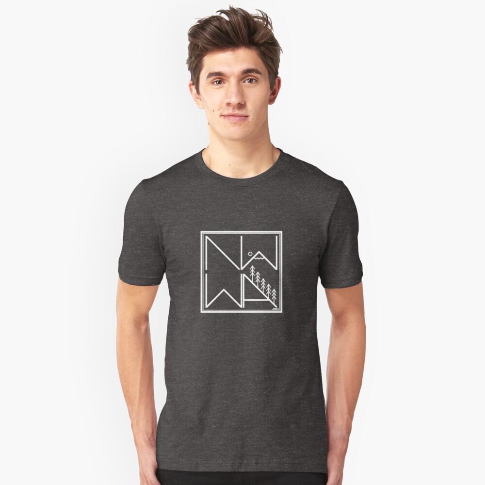 Northwest Washington (White Outline) Unisex T-Shirt Front