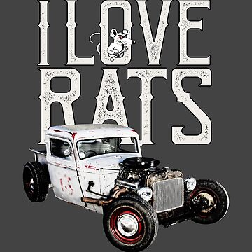 Auto Series I Love Rats by allovervintage