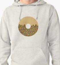 Donut Art Chocolate with Sprinkles Pullover Hoodie