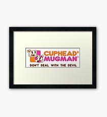 Cuphead Mugman Mashup Framed Print