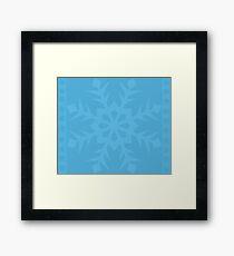 Blue Snowflake Framed Print