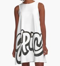EPIC Lettering - Graffiti Style on White A-Line Dress