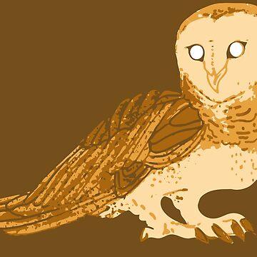 Golden barn owl by Kiluvi