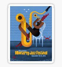 Music Festival Design Poster – Monterey Jazz Festival 2013 Sticker