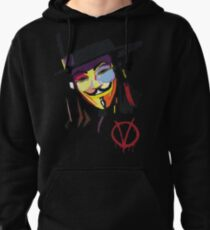 V or A = Violence or Anarcho Pullover Hoodie