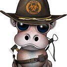 Baby Hippo Zombie Jäger von jeff bartels