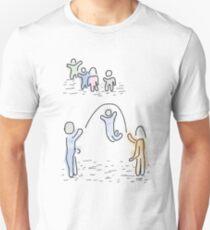 Jump Role Children Play Doodle T-Shirt