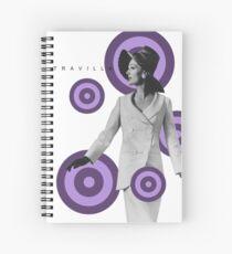 Candice Purple Dot Spiral Notebook