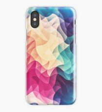 Geometry Triangle Wave Multicolor Mosaic Pattern - (HDR - Low Poly Art) iPhone Case/Skin
