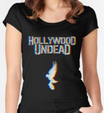 Hollywood Glitched Women's Fitted Scoop T-Shirt