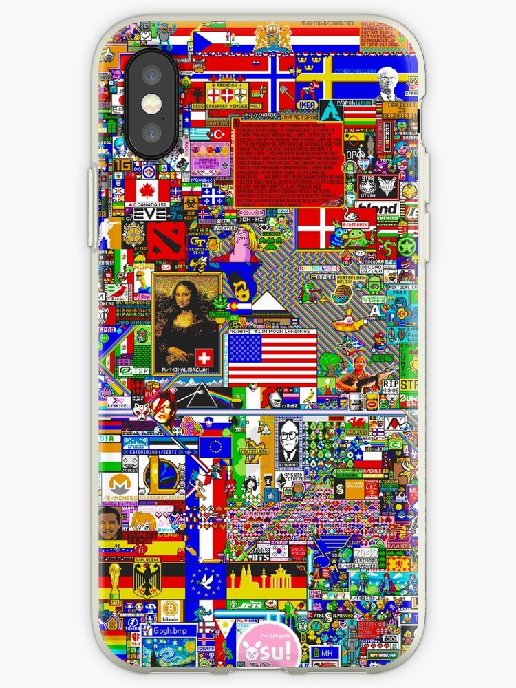 newest fcdae c9c64 'Reddit /r/Place Final Canvas' iPhone Case by RALEx147