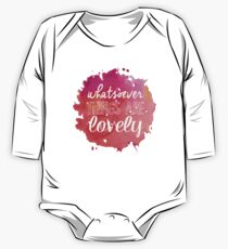 Whatsoever Things Are Lovely One Piece - Long Sleeve