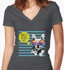 Who Let the Dogs Out - Baha Men Women's Fitted V-Neck T-Shirt