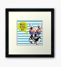 Who Let the Dogs Out - Baha Men Framed Print