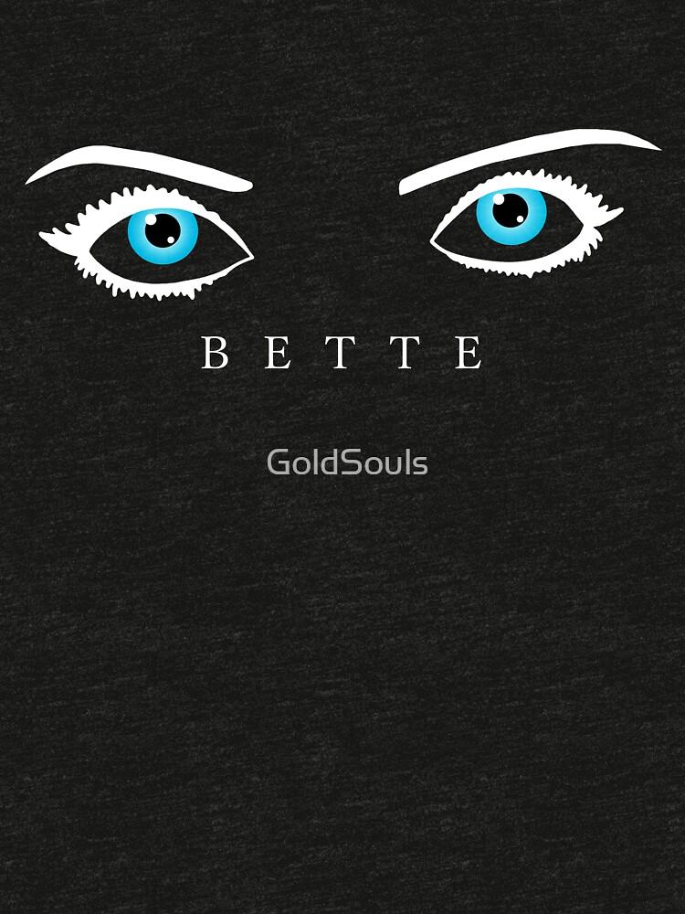Bette Davis Augen (weiß) von GoldSouls