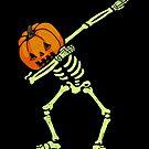 «Dabbing Skeleton Pumpkin Glow» de vomaria