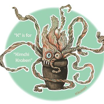 K is for Kimchi Kraken by kikoeart