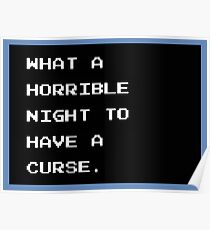 Castlevania - What a Horrible Night to Have a Curse Poster