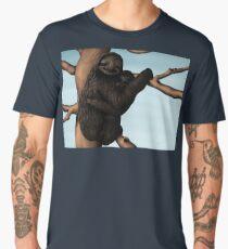 Happy Sloth with Cute Baby Men's Premium T-Shirt