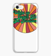 Wake Up Teach Kids Be Awesome Retro Design iPhone Case/Skin