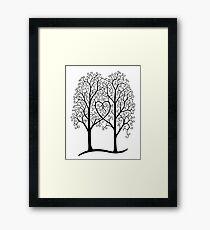 Interwoven trees Framed Print