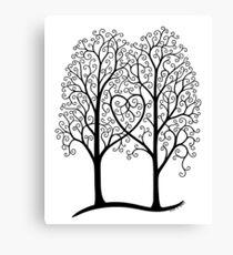 Interwoven trees Canvas Print