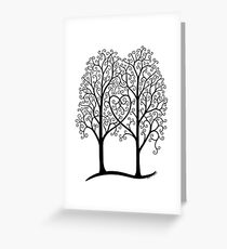 Interwoven trees Greeting Card