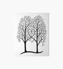 Interwoven trees Art Board