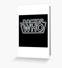 Doctor Who 80s Neon Logo Greeting Card