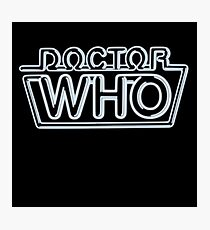 Doctor Who 80s Neon Logo Photographic Print