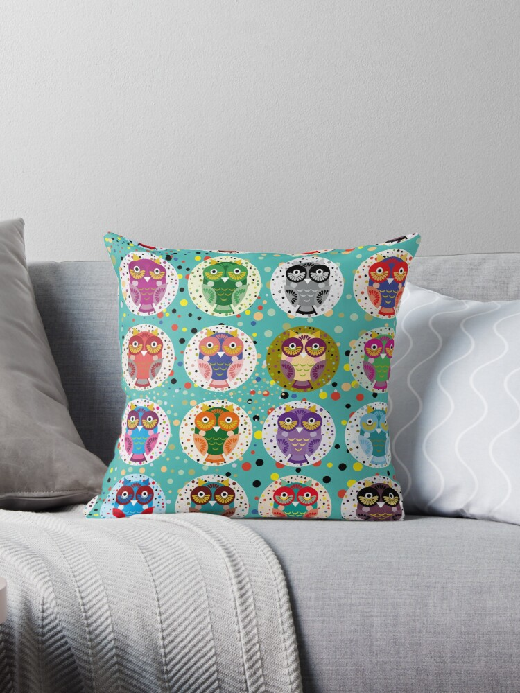 funny colorful owls by EkaterinaP