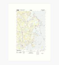 Massachusetts  USGS Historical Topo Map MA Duxbury 20120608 TM Art Print