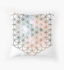 Kid Cudi Galaxy [Red] Flower of Life | Sacred Geometry Throw Pillow