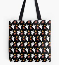 Halloween Ghost, Spooky Ghost Candy Corn Print  Tote Bag
