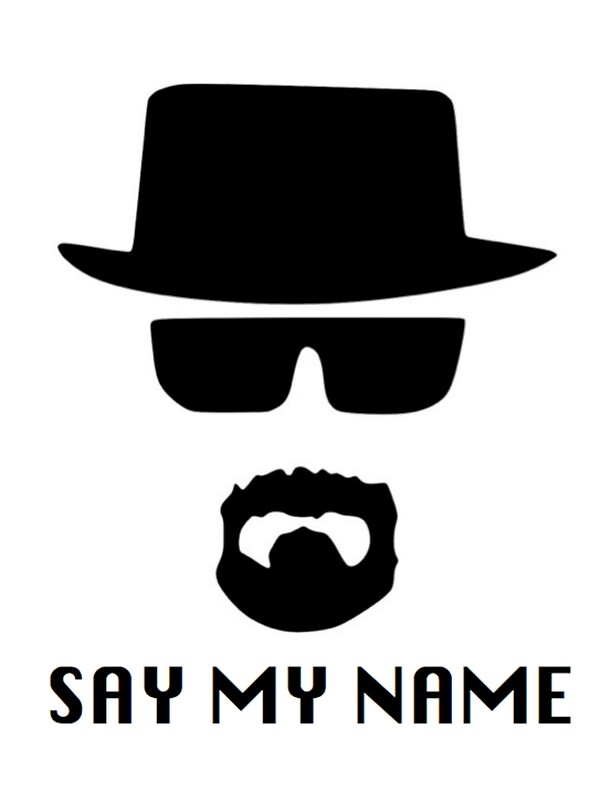 heisenberg say my name stickers by elizab99 redbubble. Black Bedroom Furniture Sets. Home Design Ideas