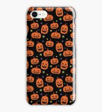 Spooky Jack-o-Lanterns, Happy Halloween Pumpkin Art iPhone Case/Skin
