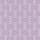Geometric Pattern - Purple by lisabdesign