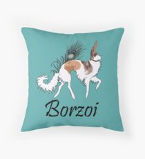 Sable Borzoi Throw Pillow