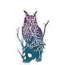 Owl and Skull (PurpleGreen) by TurkeysDesign