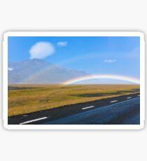 Icelandic Landscape with double rainbow Sticker