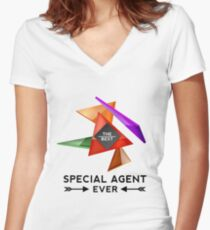 SPECIAL AGENT - NICE DESIGN FOR YOU Women's Fitted V-Neck T-Shirt