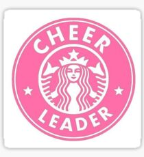 cheerleader starbucks sticker Sticker